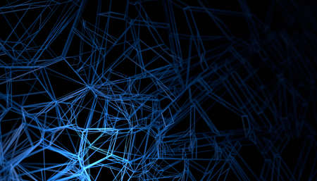 Abstract 3d render, background design, neural network concept