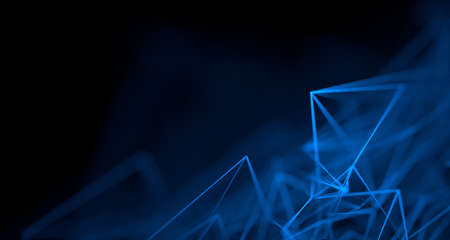 Abstract 3d render, background design, network concept