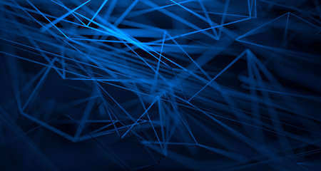 Abstract 3d render, background design with plexus shape, network concept