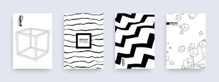 Abstract background design, set of modern patterns, vector illustration