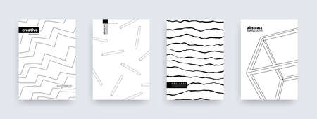 Abstract background design, set of modern covers, vector illustration