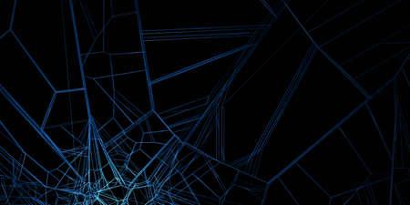 Abstract 3d render, modern background design, network concept