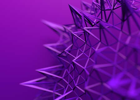 Abstract 3d render, background design with connected lines, network concept