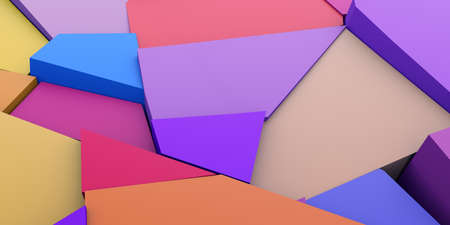 Abstract 3d render, colorful cracked surface, modern background design 免版税图像