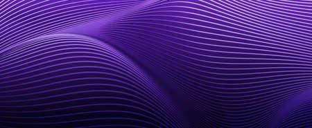 Abstract 3d render, purple background design, modern illustration