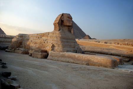esfinge: Pir�mides de Egipto El Cairo Foto de archivo