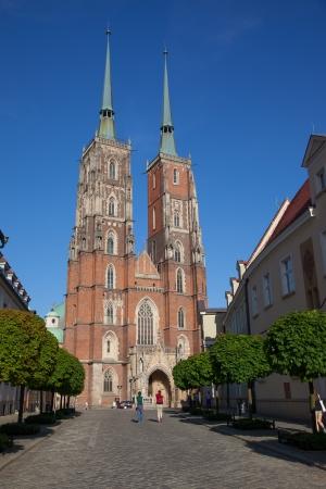 john the baptist: Poland  Wroclaw  Tumski island  Cathedral of St  John the Baptist Stock Photo