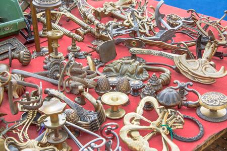 door knob: Market old door knob flea market Italy