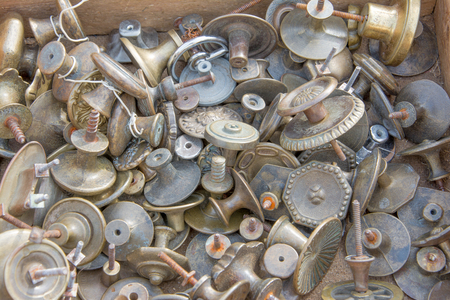 antique booth: Market old door knob flea market Italy