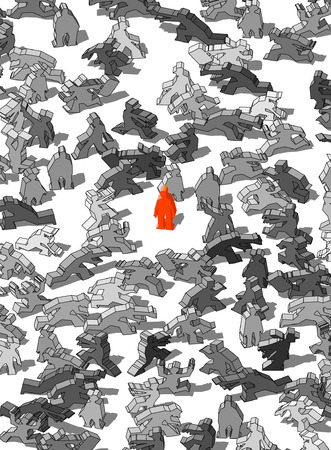 monotony: standing out from the crowd? Illustration