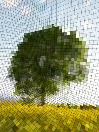 optical illusion - matrix or landscape photography?