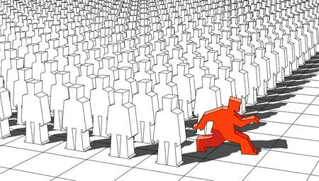 originality: escaping man Illustration