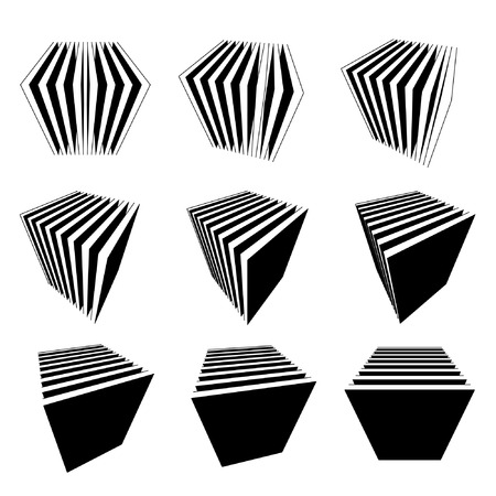 progression: collection of split cubes