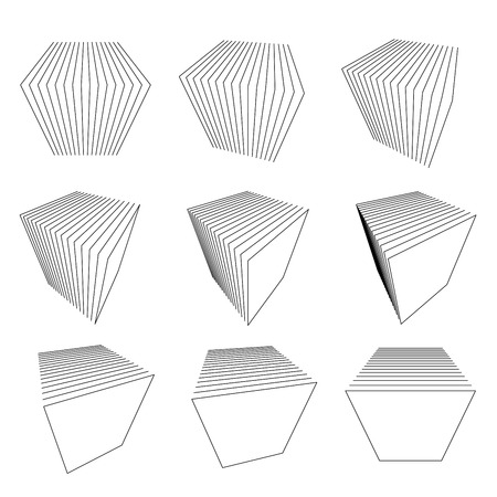 collection of abstract cubes  Vector
