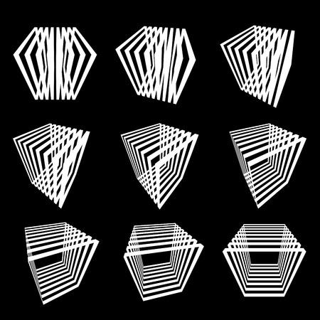 verzameling van abstracte kubussen  Stock Illustratie