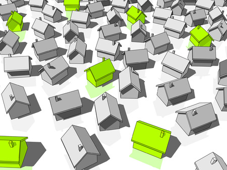 """green """"ecological"""" houses standing out from others Imagens - 6176789"""