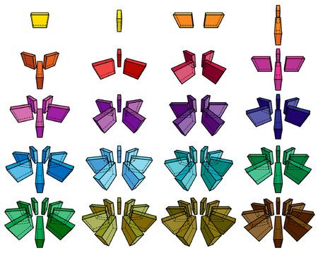 orthogonal: collection of orthogonal geometric shapes