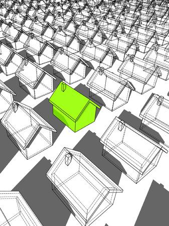groen ecologisch huis uit staan van anderen