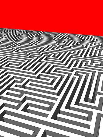 disorganization: Labyrinth Illustration