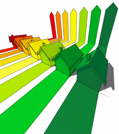 clasificacion: siete casas certificadas en clases en�rgicas  Vectores