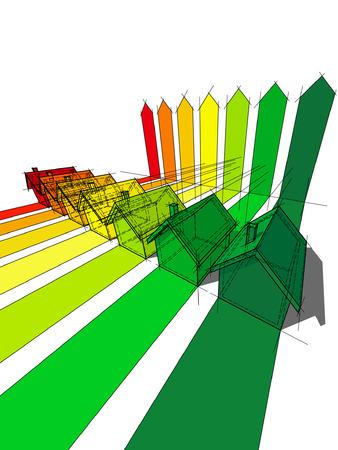 zeven huizen gecertificeerd voor energetische klassen