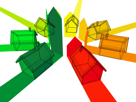 zeven huizen gecertificeerd voor zeven energetische klassen