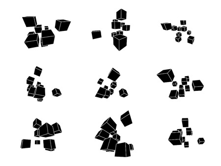 collection of abstract geometric design elements