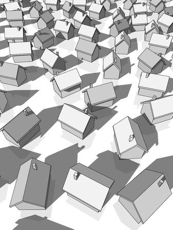 multiple house: grey houses