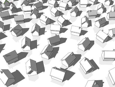 monotony: grey houses