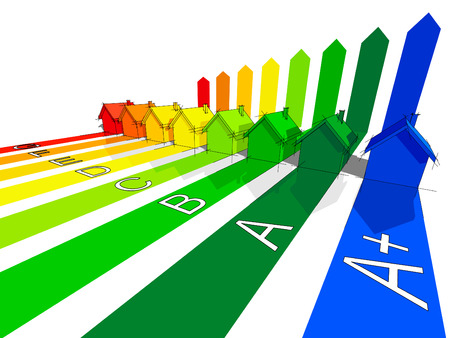 szigetelés: hét + extra egyet házak tanúsított nyolc energetikai osztályokba