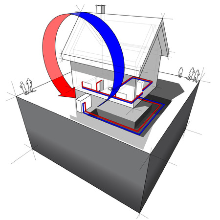 refrigeration cycle: air source heat pump diagram