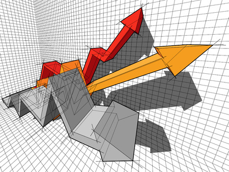 Zakelijke pijl diagram Stock Illustratie