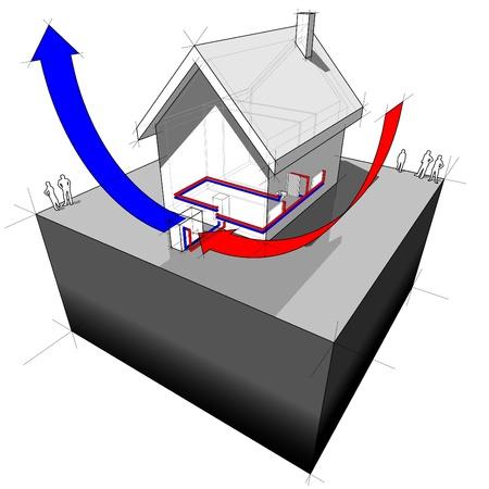 air source heat pump diagram