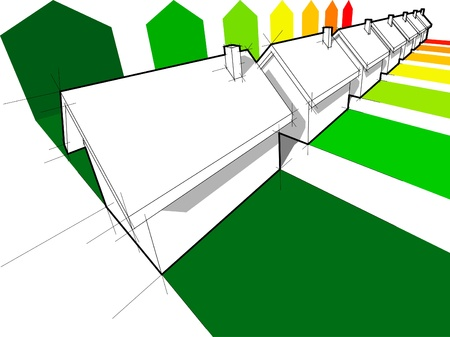 solar heating: seven houses certified in seven energetic classes Illustration