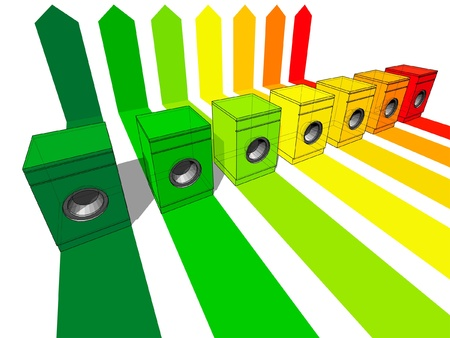 washer machine: seven washing machines certified in seven energetic classes Illustration