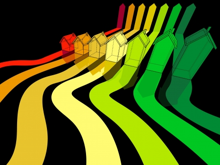 insulation: seven houses certified in seven energetic classes Illustration