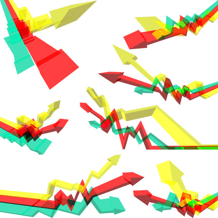 semitransparent: collection of abstract semitransparent rising business arrow diagrams