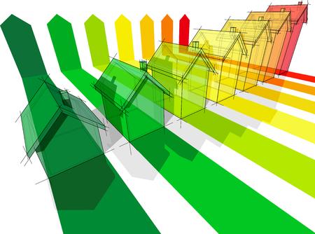 zeven huizen gecertificeerd in zeven energieke klassen