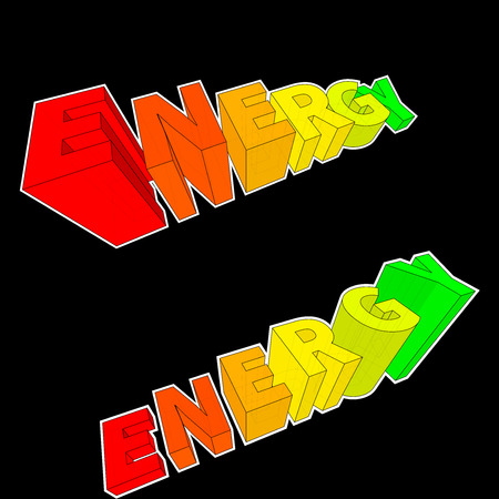 alternatives: energy rating diagrams in form of rising letters in two alternatives Illustration