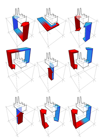 Collection Of Nine Heat Pump Diagrams On Example Of A House