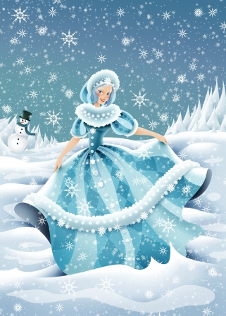 allegory: this illustration represent an winter allegory Stock Photo