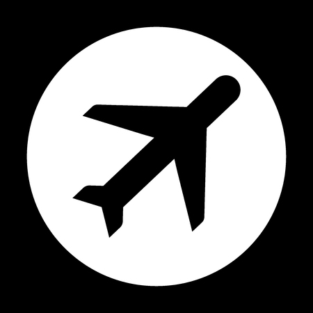 Airplane Aviation Airline Plane Top View Flat Vector Icon For