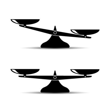 Scales icon vector illustration