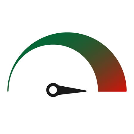The tachometer, speedometer and indicator icon in Flat Vector illustration.
