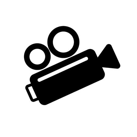 video camera icon, retro icon. vector illustration on white backgraund Ilustração