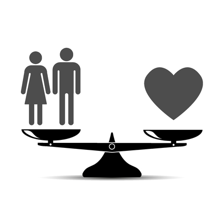 scale vector icon. family is love. vector illustration