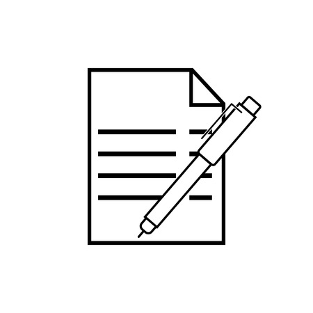 pen and sheet. vector illustration for business applications and websites