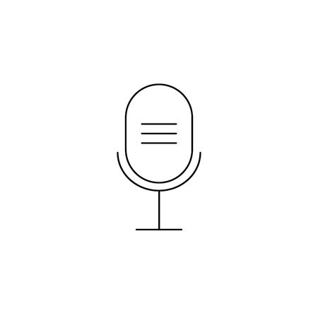 Microphone icon, Microphone icon, in trendy flat style isolated on white background.
