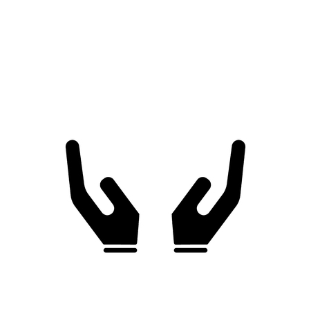 hand icon. simple icon on white background