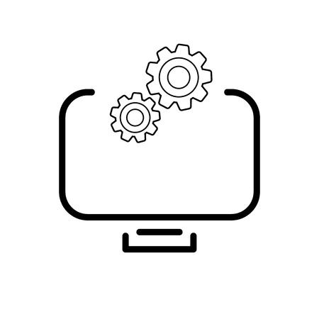 tv tuning icon. icon on white background Illustration
